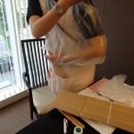 三角巾の代用にビニール袋